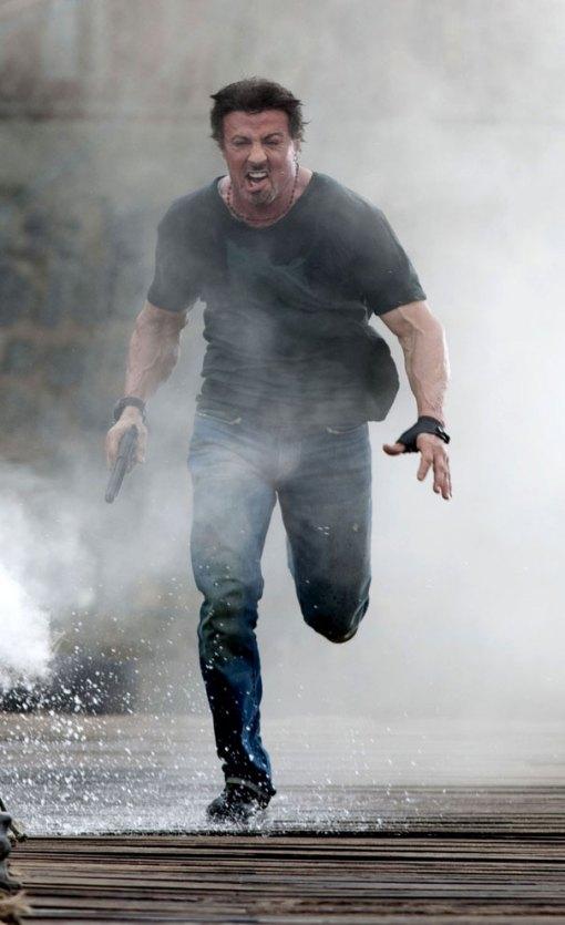 Imagen del rodaje 'The Expendables'