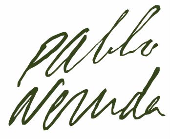 Firma Pablo Neruda